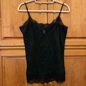 Exhilaration size large black lace Cami